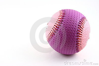 Pink and purple baseball