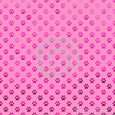 Free Pink Purple Dog Paw Metallic Foil Polka Dot Paws Background Pattern Stock Photo - 66964950