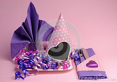 159 best Purple/Plum Weddings images on Pinterest | Lilac ... |Pink And Purple Table Setting