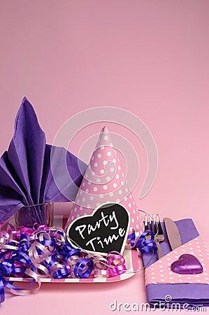 Beautiful Pink and Purple Wedding | ElegantWedding.ca |Pink And Purple Table Setting