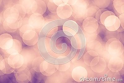 Pink and purple vintage background with bokeh defocused lights