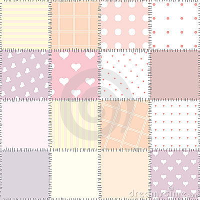 Pink quilting design