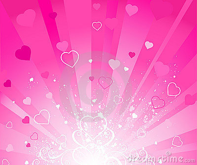 Pink radiant background