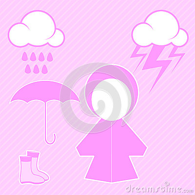 Pink raincoat and raindrop