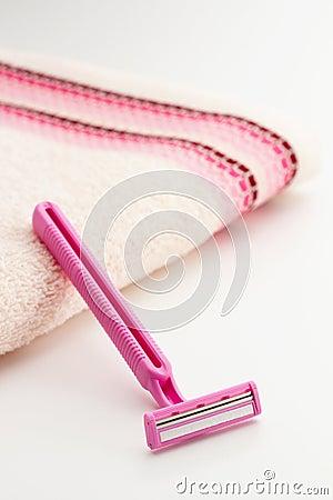 Pink razor blade