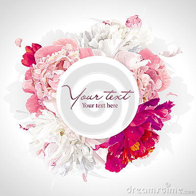 Free Pink, Red And White Peony Background Royalty Free Stock Photo - 33220915