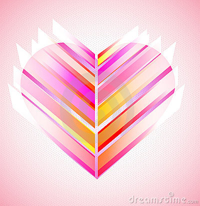 Pink and red modern abstract heart