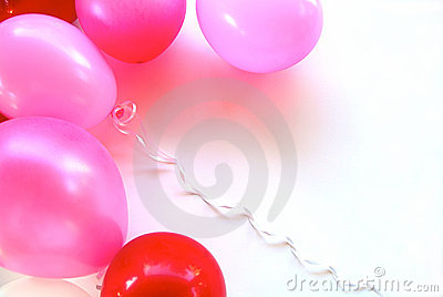 Pink & Red Party Balloons