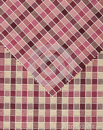Pink and red vichy pattern.