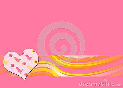 Pink retro background