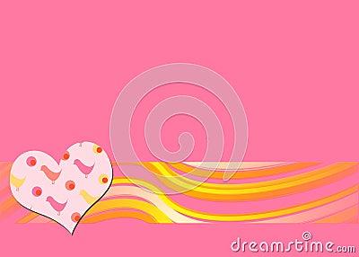 Pink retro background
