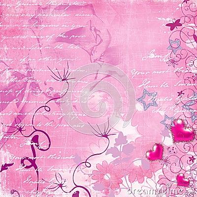 Free Pink Retro Background Royalty Free Stock Photo - 3326115