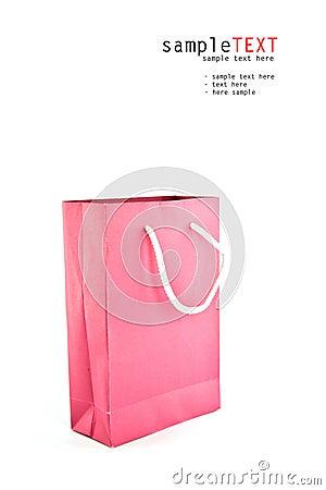 Pink reusable paper bag