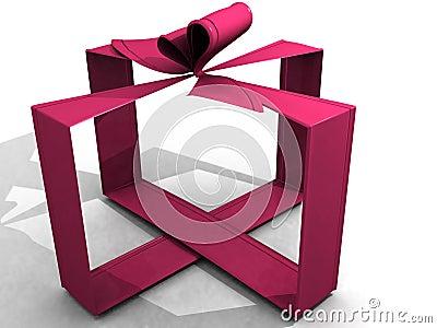 Pink ribbon 3d
