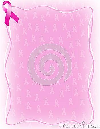 Pink ribbon background / frame