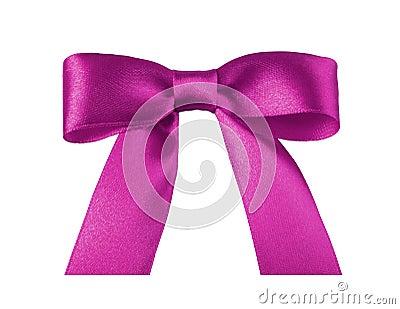 Pink ribbon bow