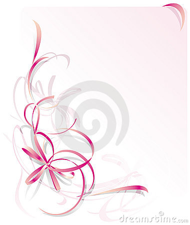 Free Pink Ribbon Greeting Card Royalty Free Stock Photo - 3248515