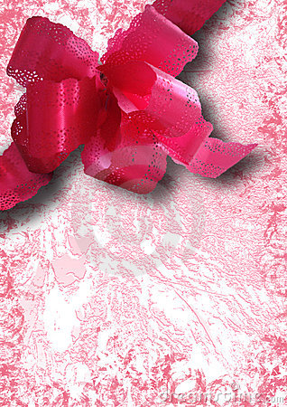 Pink ribbon holiday collage
