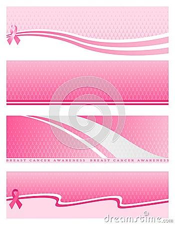 Pink Ribbon Web Banner Stock Vector Image 50724800