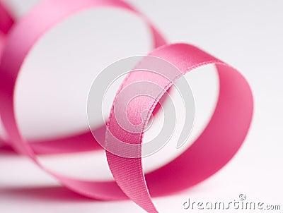Pink Ribbon on White