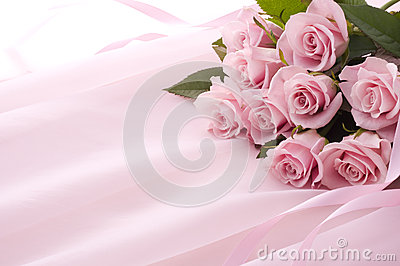 Pink rose bouquet