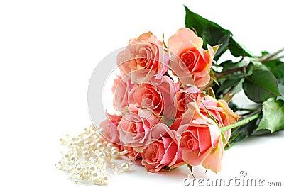 Pink rose pearls