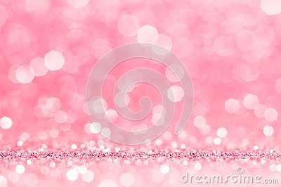 Pink rose, pink bokeh,circle abstract light background,Pink rose shining lights, sparkling glittering Valentines day,women day or Stock Photo
