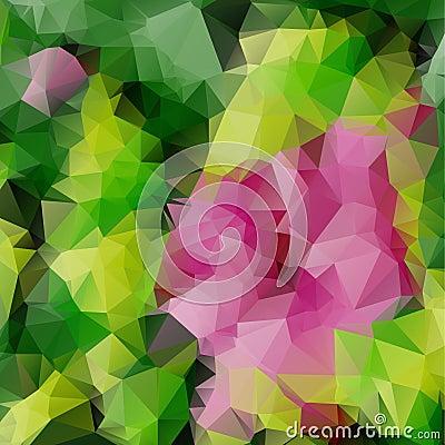 Free Pink Rose Triangle Mosaic Stock Photo - 52026650