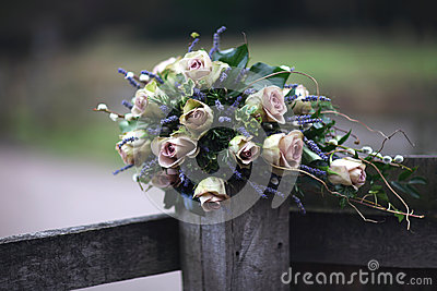 Pink Roses & Lavender Bouquet