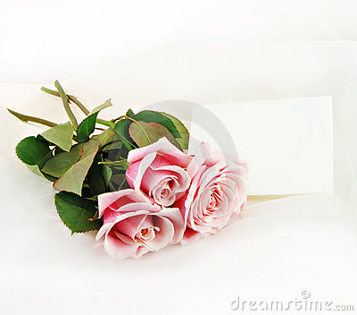 Pink Roses and Note