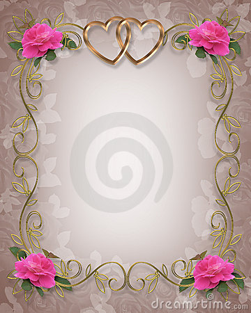 Free Pink Roses Wedding Border Royalty Free Stock Photo - 7508755
