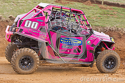 Pink RZR buggy Editorial Photo