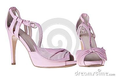 Pink sandals with heels