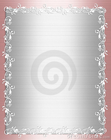 Pink Satin Shabby chic Border