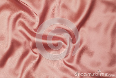 Pink satin or silk fabric