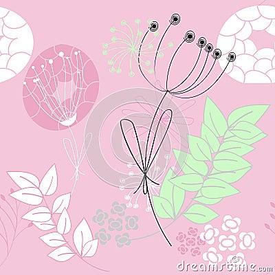 Pink seamless pattern