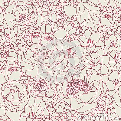 Pink seanless pattern