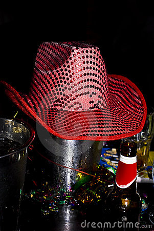 Pink Sequin Cowboy Hat, Ice Bucket Lid