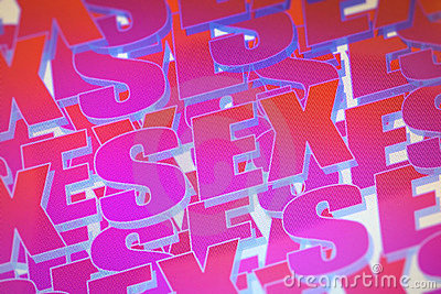 Pink sex word background