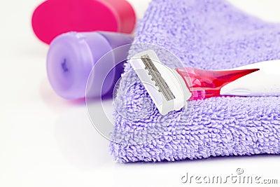 Pink shaving blade