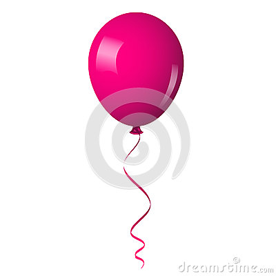 Pink shiny balloon