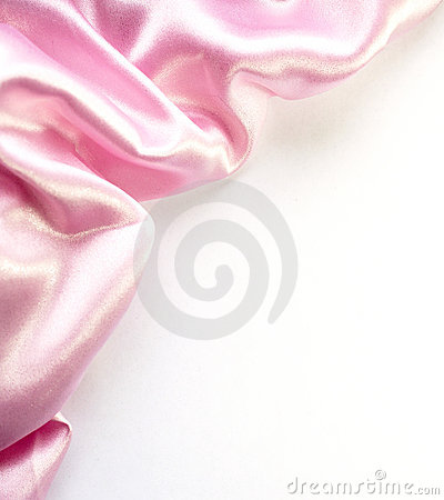 Pink silk border on white