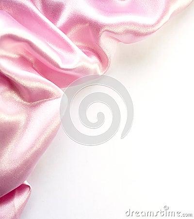 Pink silk border on white
