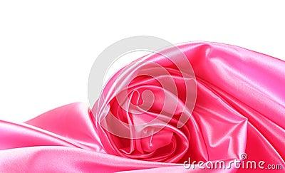 Pink silk drape