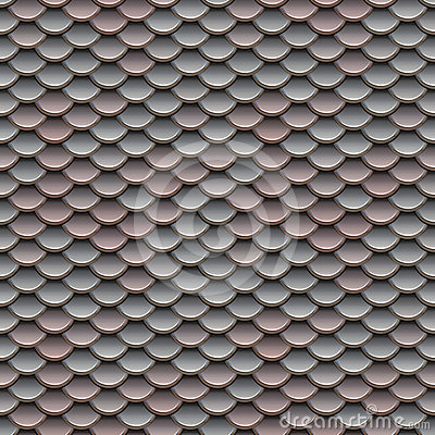 Pink and Silver Scales Seamless Pattern