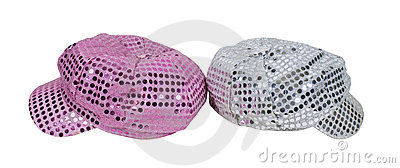 Pink and Silver Sparkle Caps