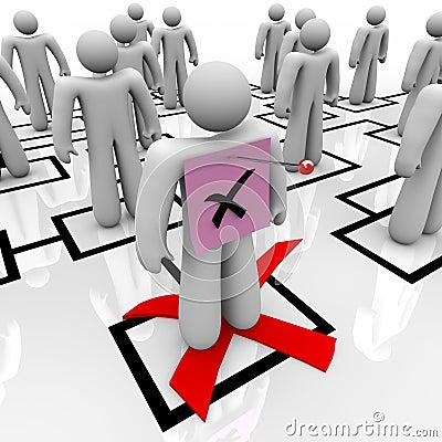 Free Pink Slip - Organizational Chart Royalty Free Stock Images - 15837389