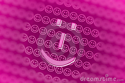 Pink smiley face background