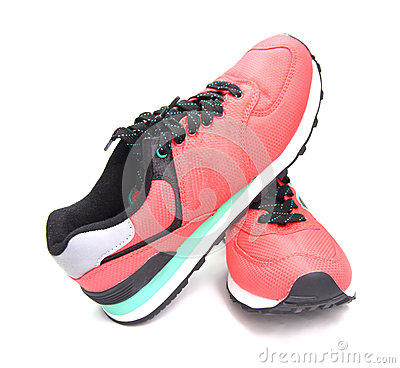 Pink sneaker, sports shoes