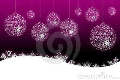 Pink snow flake background